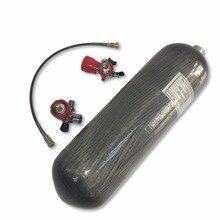 AC168101 Acecare روسيا Pcp Airgun 6.8L CE خزان الغوص 4500Psi خزان الغاز اسطوانة من ألياف الكربون مع صمام ومحطة التعبئة