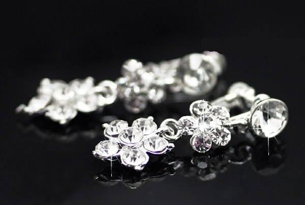 ٩( ‿ )۶Coréenne belle bijoux de mariée collier boucles d oreilles de ... f9cccf776a4d