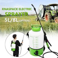 5/8L Knapsack Electric Power Sprayer Sprinkler Mist Duster Farm Watering Spraying Machine Garden Tools Irrigation Pump