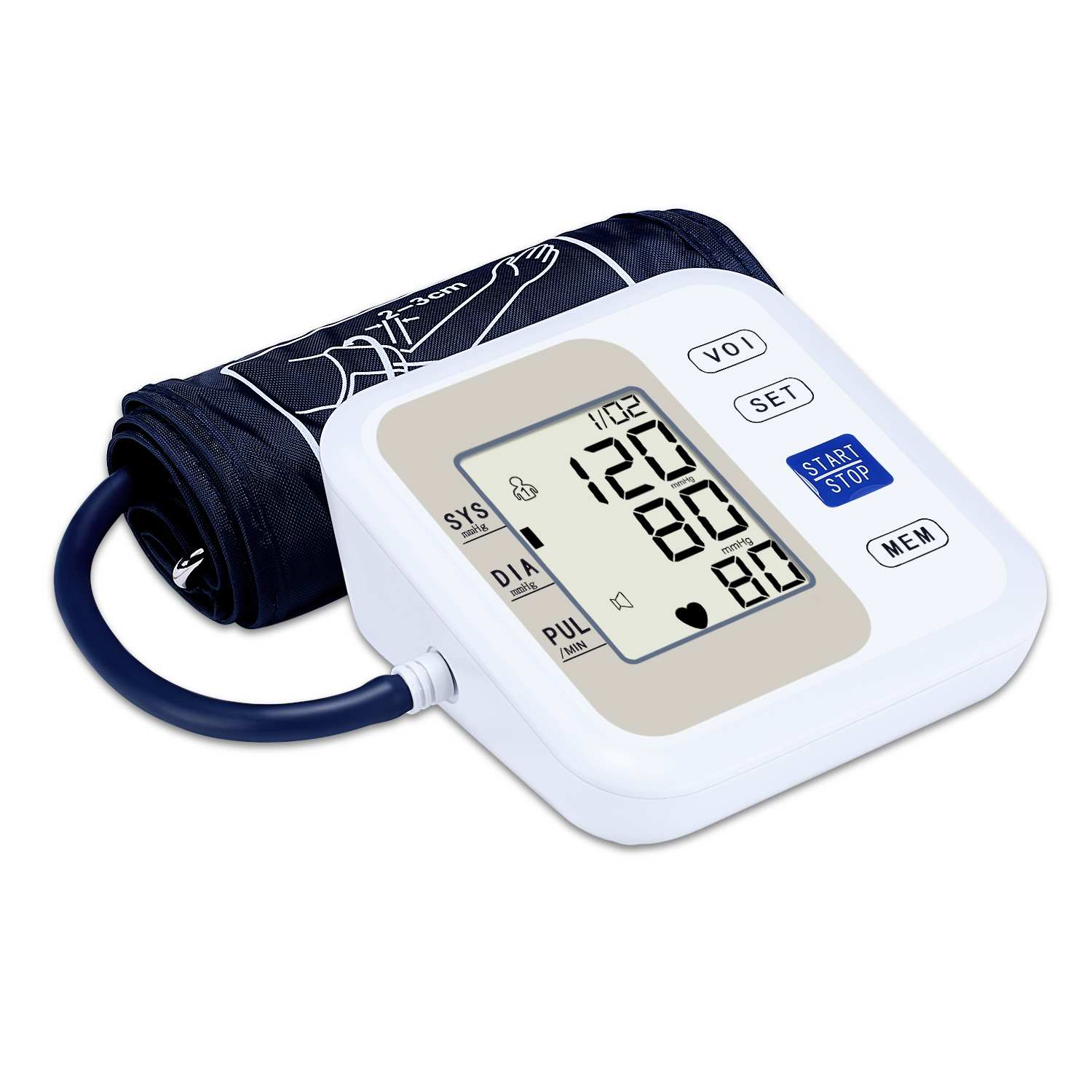 IHB Arrhythmia Detection Blood Pressure Heart Rate Monitor Upper Arm LED Full English Display With InstructionsIHB Arrhythmia Detection Blood Pressure Heart Rate Monitor Upper Arm LED Full English Display With Instructions
