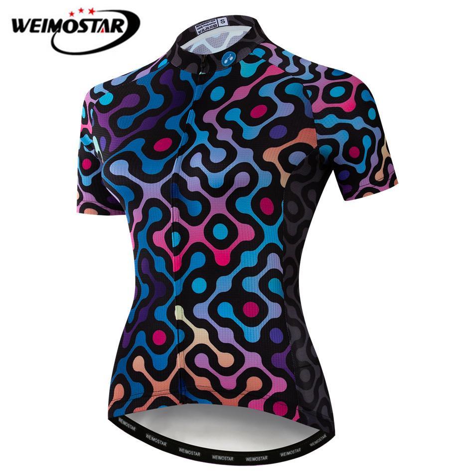 Weimostar Summer Women Cycling Jersey 2019 Pro Team Short Sleeve Mountain  Bike Clothing Racing Sports MTB 452d0d154