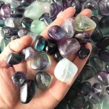 Natural color fluorite rainbow crystal natural gravel original stone polished fish tank landscaping decoration
