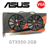 Asus GTX 950 OC 2GB GT950 GTX950 2G D5 DDR5 128 Bit nVIDIA PC Desktop Graphics Cards PCI Express 3.0 computer Graphics Cards