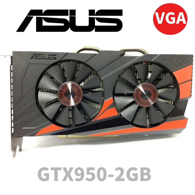 Asus GTX-950-OC-2GB GT950 GTX950 2G D5 DDR5 128 Bit   NVIDIA PC Desktop Graphics Cards PCI Express 3.0 Computer  Graphics Cards