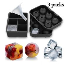 Silicone Mold Ice-Cube-Maker Tray Sphere Party-Bar-Accessories Whiskey Square Wine-Cocktail