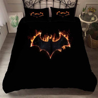 HELENGILI 3D Bedding Set Batman Print Duvet Cover Set Bedcloth with Pillowcase Bed Set Home Textiles #TB 13