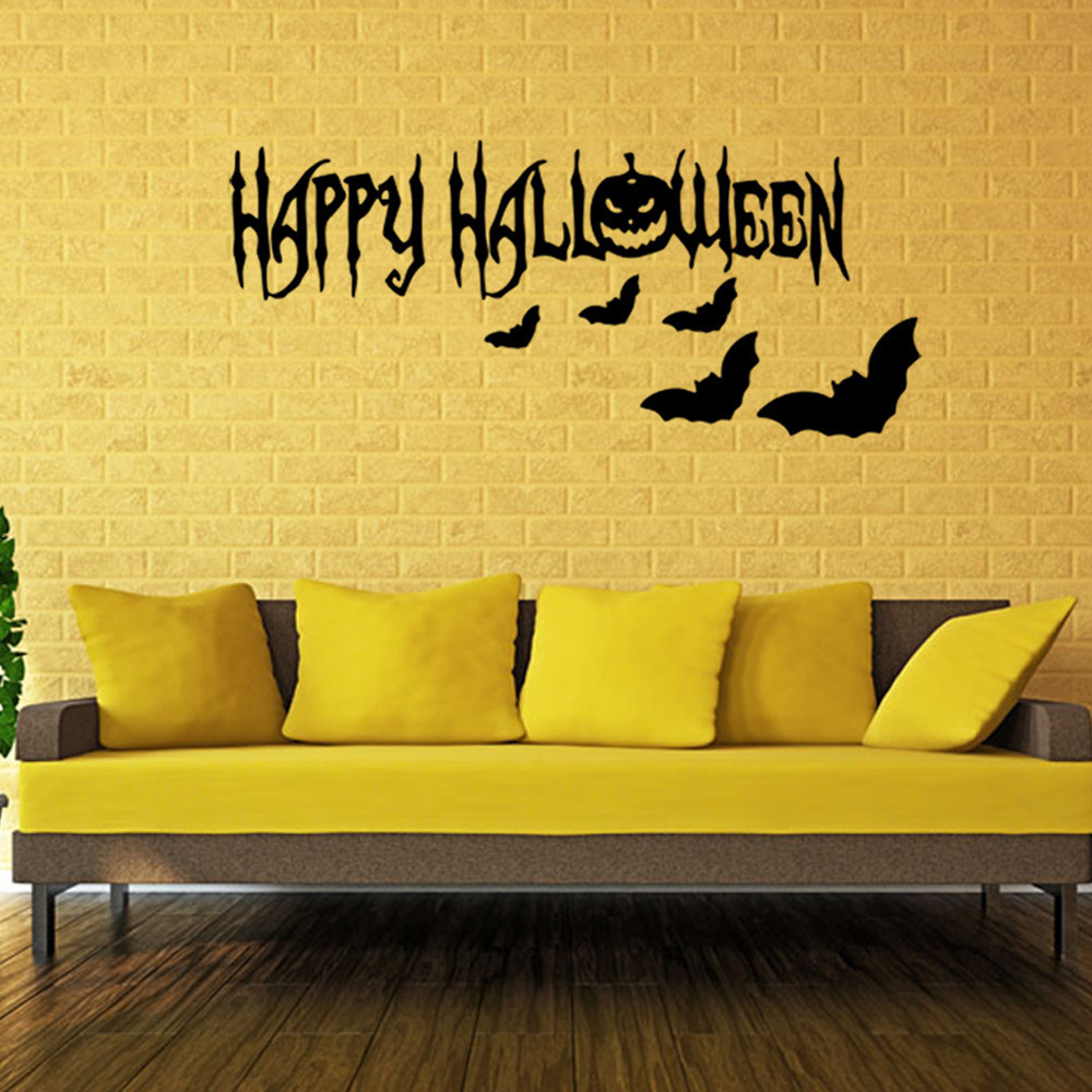 Easter Halloween DIY PVC Sticker Removable Wallpapers Vinyl Art Decal Waterproof Poster Home Decoration Bedroom Wall Stickers