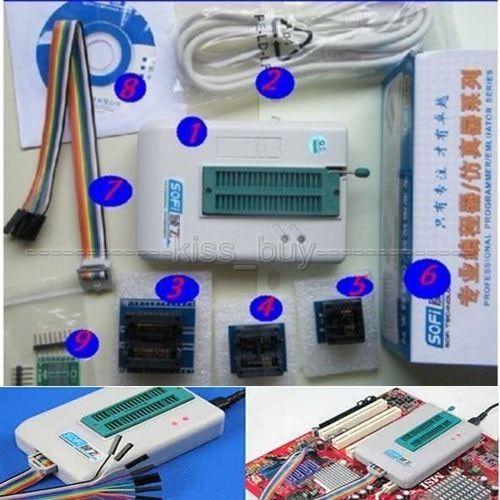 DYKB Universal USB Programmer EEPROM Flash SPI BIOS 24/25/BR90/93 + CHIPS +software For SOFI SP8 Series