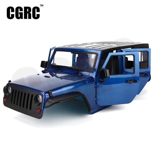조립되지 않은 12.3 인치 313mm 휠베이스 바디 카 쉘 1/10 RC 크롤러 지프 체로키 Wrangle Axial SCX10 & SCX10 II 90046 90047