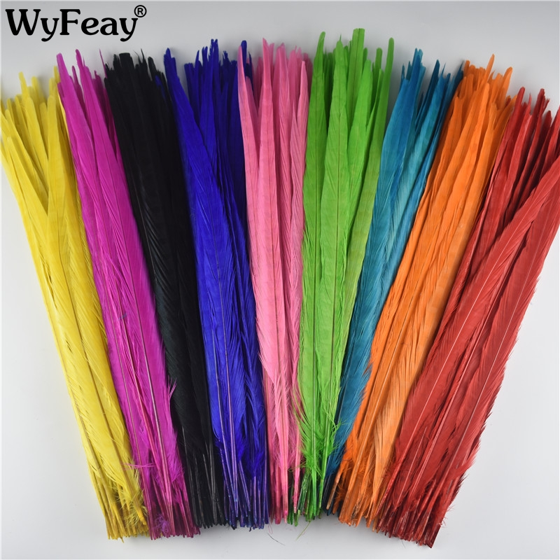 Wholesale 100Pcs Lot 40 45CM 16 18Inch Ringneck Pheasant Tail Feathers Wedding Decorations Decor Feathers for
