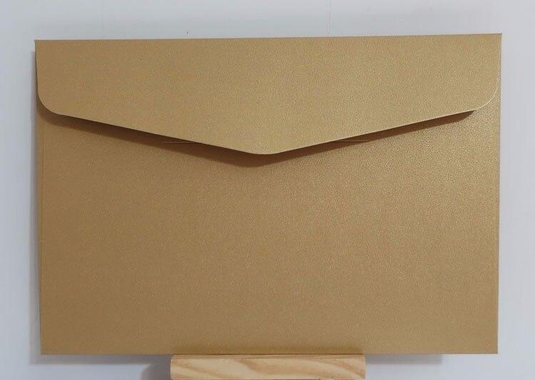 """Image 2 - 25 шт./лот 193x133 мм (7,5 """"x 5,2"""") перламутровый цветной бумажный конверт 250 г конверты приглашения для карт Подарочный конверт-in Бумажные конверты from Офисные и школьные принадлежности"""