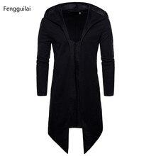 Graben Mantel Männer Frühling Mode Lässig Lange Windbreaker Slim Fit Graben Mantel Plus Größe Männer Mantel warme winter