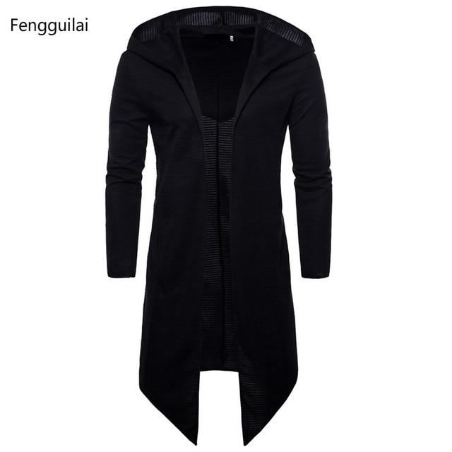 תעלת מעיל גברים אביב אופנה מזדמן ארוך מעיל רוח Slim Fit תעלת מעיל בתוספת גודל גברים מעיל חם החורף