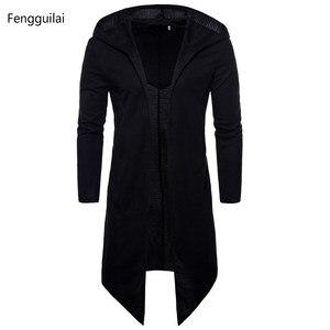 Image 1 - Trench Coat Men Spring Fashion Casual Long Windbreaker Slim Fit Trench Coat Plus Size Men  Overcoat warm winter