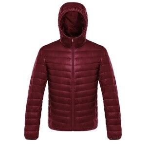 Image 3 - NewBang duvet manteau mâle Ultra léger doudoune hommes chaud vestes coupe vent léger manteau plume bouffante Parka plume manteau