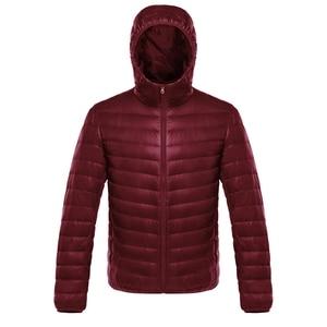 Image 3 - NewBang למטה מעיל זכר קל במיוחד למטה מעיל גברים של מעילים חמים מעיל רוח מעיל קל משקל נוצה במקומות Parka מעיל נוצות