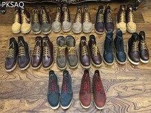 Autumn Winter Men Martin Boots Leather Fashion Men's Boots Cotton Shoes Boots Round Toe Flat England Western Boots Riding Shoes men shoes leather boots riding boots flock oxfords derby shoes flat platform men formal shoes 2018 winter autumn non slip 39 44