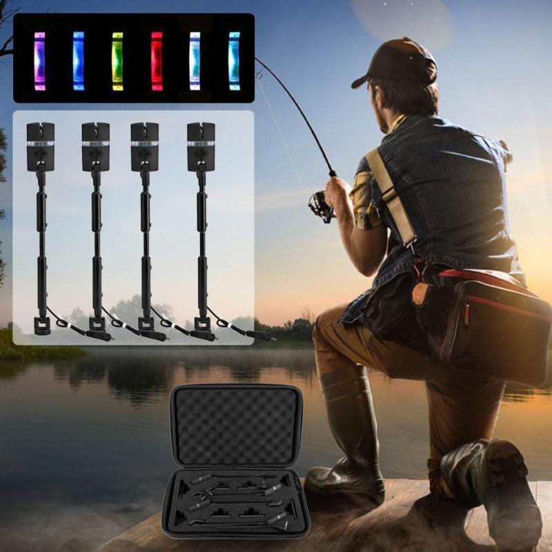 Morsure de pêche alarme de pêche LED Mini cintre carpe morsure de pêche alarme échangiste cintre réglable LED indicateur de morsure éclairé