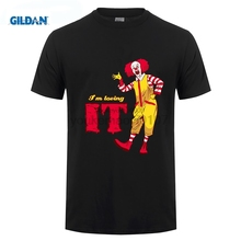 GILDAN I'm Loving it RU T Shirt Stephen King's it Horror Movie Clown T Shirts Adult O-Neck Short Sleeve Tees Shirt Comfort Man цена