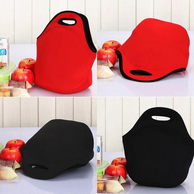 Bag Closure Unisex Black Zipper Insulation Lunch Tote Red Material Solid Submersible New