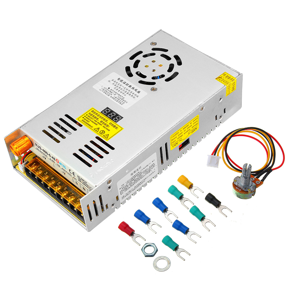 Switching Power Supply Transformer Adjustable AC 110/220V to DC 0 48V 10A 480W with LCD Display