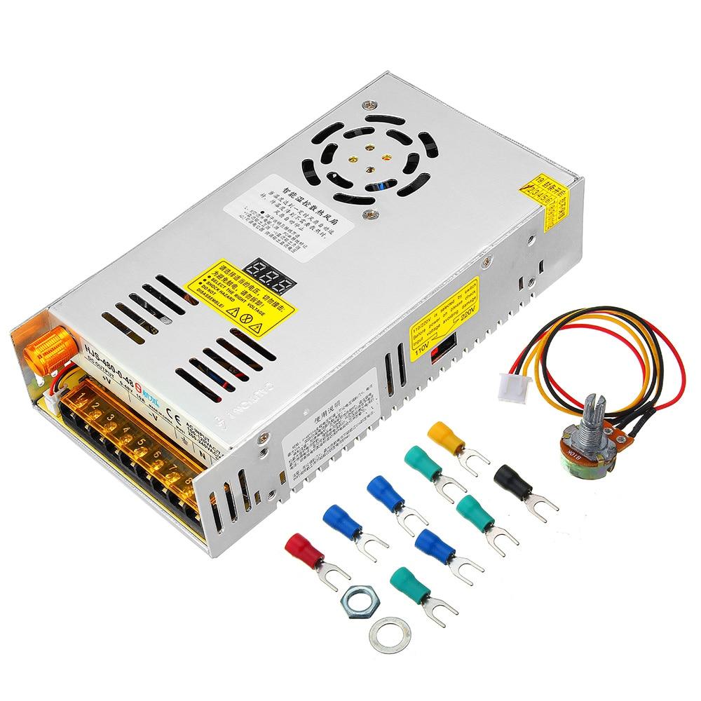 Transformateur d'alimentation à découpage réglable AC 110/220 V à DC 0-48 V 10A 480 W avec écran LCD