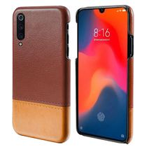For Xiaomi Mi 9 Case Luxury PU Leather Splicing Color Ultra Slim PC Hard Cover For Xiaomi Mi9 Mi 9 Explore Case 6.39 Shockproof xiaomi mi 9 case silm shockproof cover luxury ultra thin smooth hard pc phone case for xiaomi mi 9 back cover for xiaomi mi9