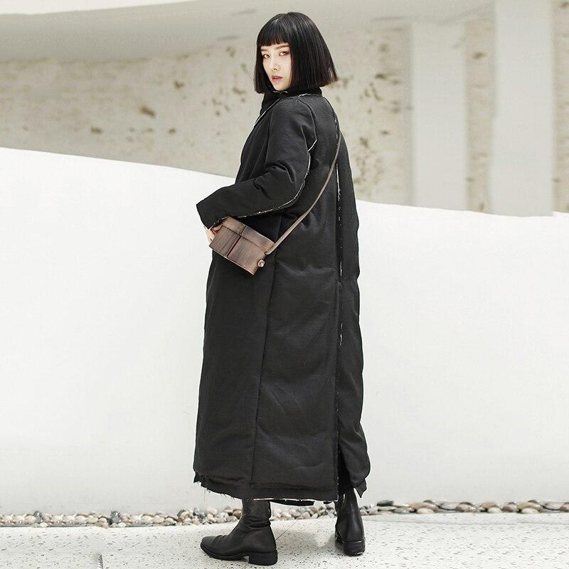 Long Longues Parkas Épaississement Nouveau Mode Lâche Manches Coton Jk101 Noir Manteau Revers rembourré Femmes Black Burr Printemps 2019 eam wPXxZAnqHZ