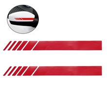 цена на 2 Pcs Auto Reflective Decal Rear View Mirror Sticker Vinyl Sticker Decal Stripe Sticker (Red)