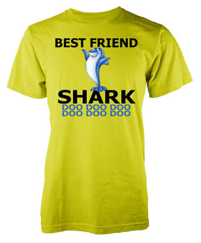 Best Friend Baby Shark Doo Blue Family Adult T Shirt Cool Casual pride t shirt men Unisex New Fashion tshirt free shipping