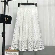 6 Colors Women Lace Skirts High Quality Spring Autumn Summer Style Elastic Waist Skirt 2018 Hot Hollow Out