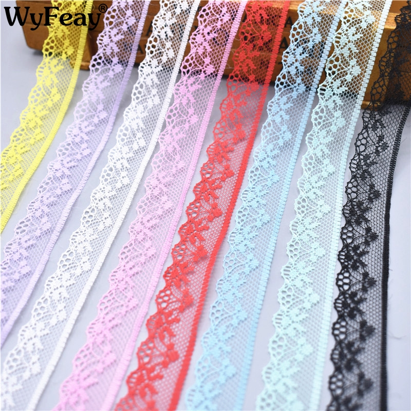10 Yards Lace Ribbon Tape 20MM Wide Trim Fabric DIY Embroidered Wedding Net Cord For Sewing Decoration African Lace Fabric