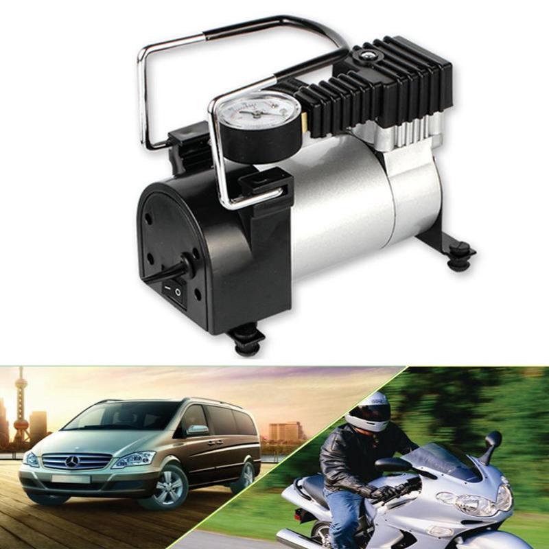 Portable Super Flow DC 12V 80PSI Metal Air Compressor Tyre Inflator Car Air Pump Vehicle Pump Electric Pressure Gauge