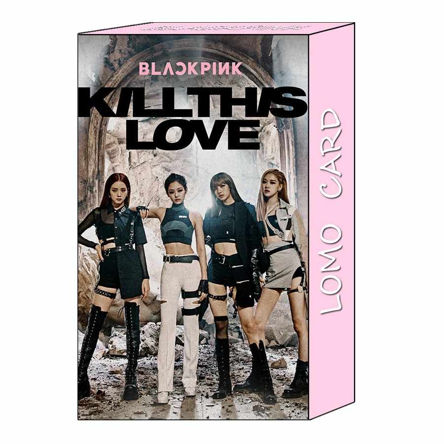 Kpop Blackpink Фотокарта Polaroid Lomo Kill This Love Collective Cards Дженни Лиза HD Фотокарта 32 шт.
