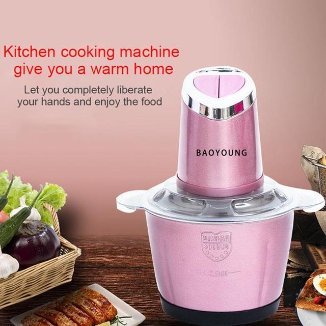 Electric Kitchen Meat Grinder Chopper Shredder Food Chopper Stainless Steel Electric Household Processor Kitchen Tools 2 Cutte 2