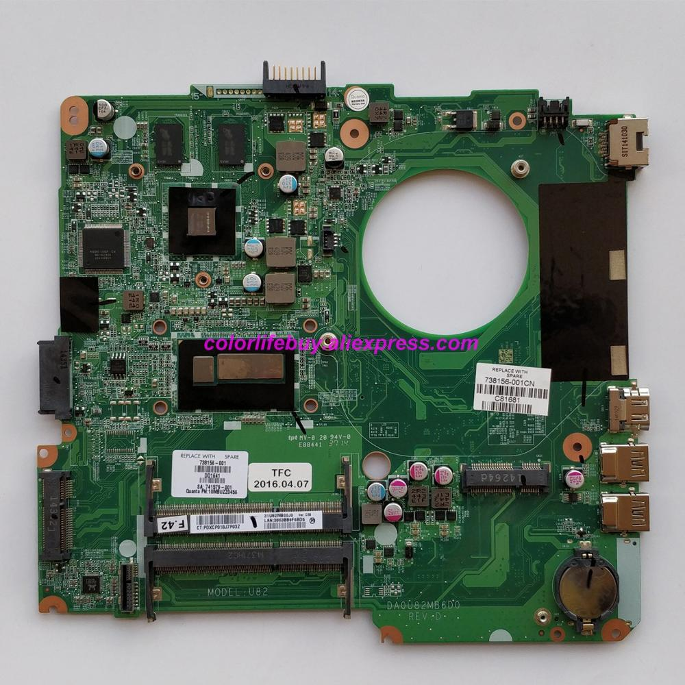 Genuine 738156 501 738156 001 DA0U82MB6D0 w 740M/2GB GPU w i5 4200U CPU Laptop Motherboard for HP 14 N Series NoteBook PC-in Laptop Motherboard from Computer & Office