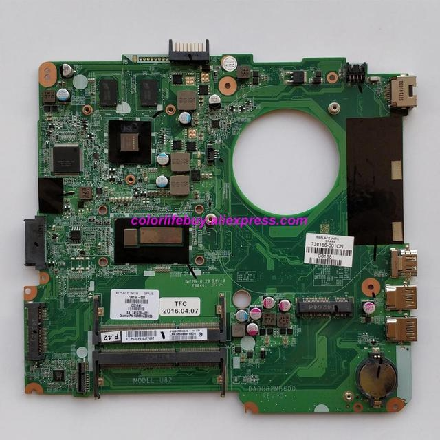 Genuine 738156 501 738156 001 DA0U82MB6D0 w 740M/2GB GPU w i5 4200U CPU Laptop Motherboard for HP 14 N Series NoteBook PC