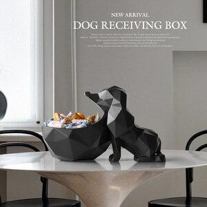 Image 2 - עיצוב הבית אביזרים שולחן שרף בעלי החיים פסל ממתקי מלאכות אגוז מפתח טלפון אחסון תיבת שרף כלב צלמית