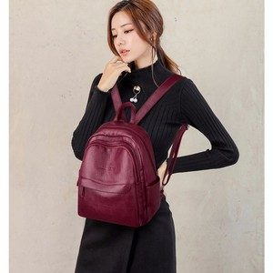 Image 2 - 2019 kobiet plecaki skórzane wysokiej jakości Sac Dos Femme panie plecak luksusowa projektanta plecak marki co dzień plecak na co dzień plecak