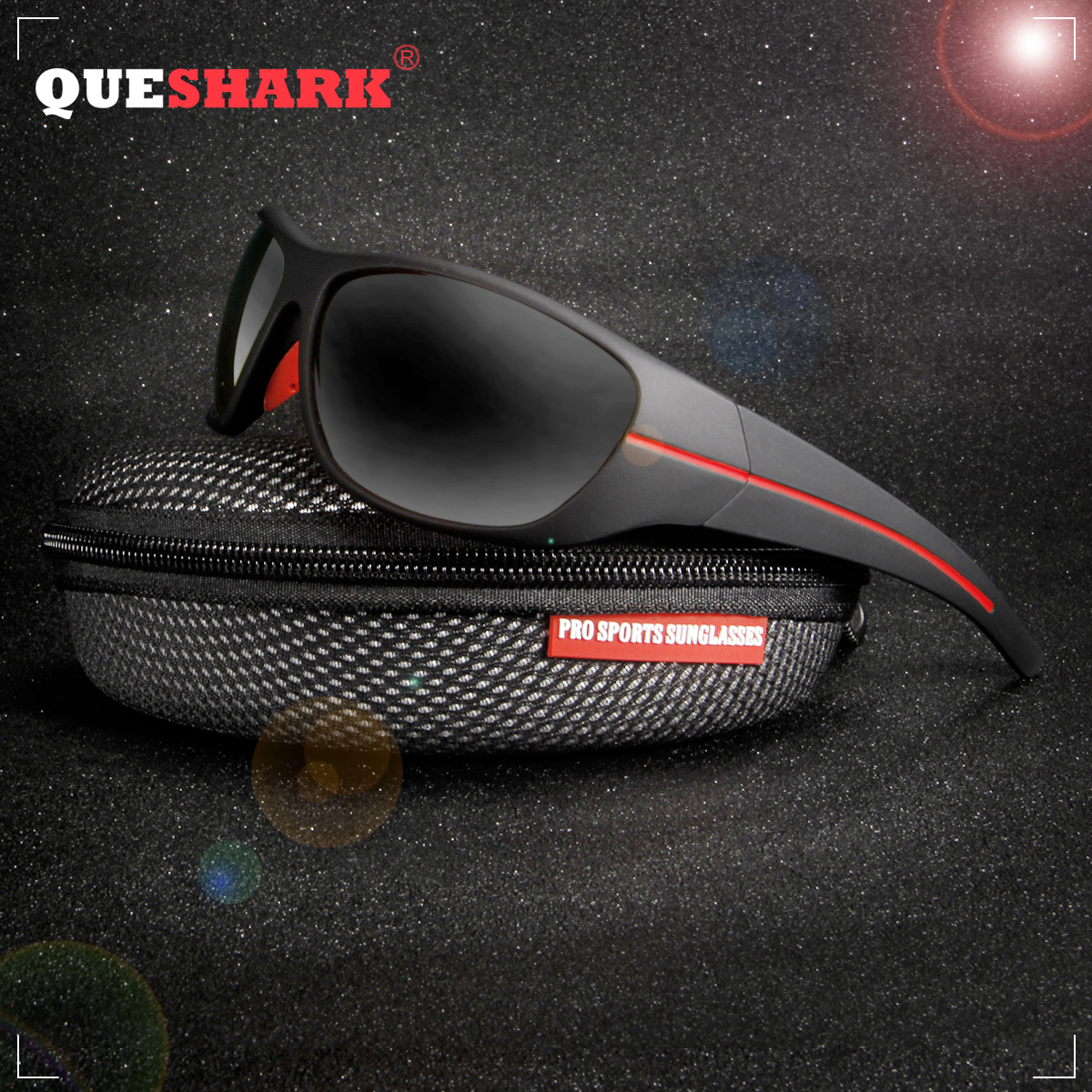 QUESHARK TR90 Frame HD Polarized Sunglasses Pro Fishing Eyewear Glasses For Men Women Hiking Running Golf Outdoor Sport