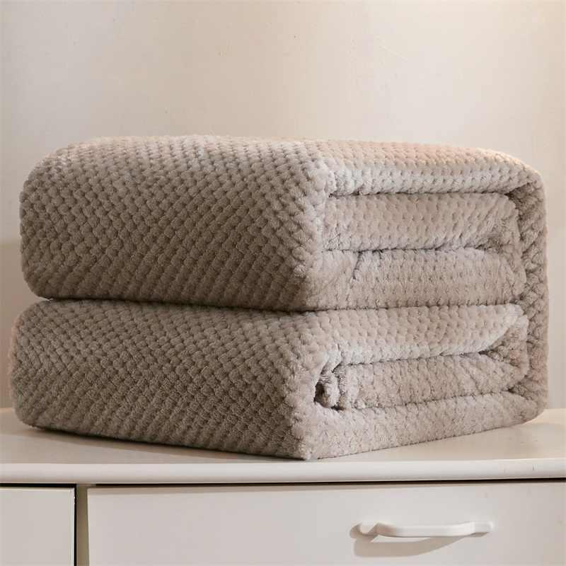 파인애플 격자 무늬 산호 양털 담요 여름 겨울 푹신한 격자 무늬 담요 침대 어린이 성인 플러시 침대보 침대 소파에