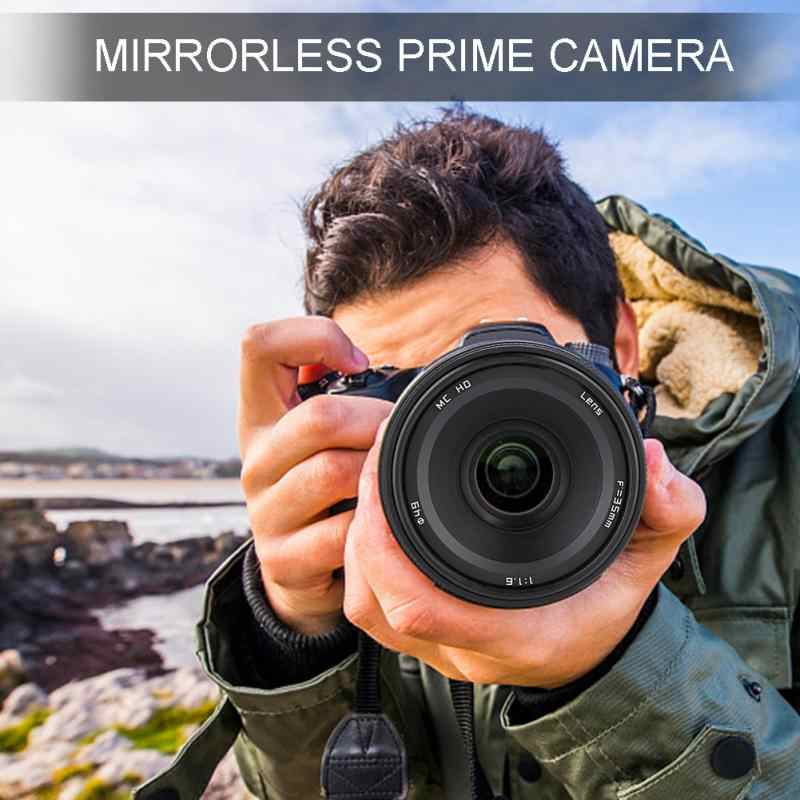 35 мм F1.6 ручная APS-C беззеркальная Основная камера объектив Высокое качество для EOS-M для sony-E для Fuji-X для M4/3