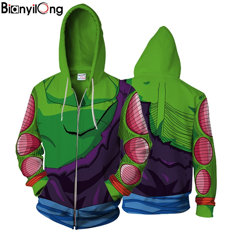 2018 New Goku Hoodie Autumn Long Sleeve Saiyan 3d Hoodie Goku /Vegeta 2018 New Design Mens Master Roshi Hooded &Sweatshirt Tops