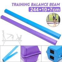 Women Balance Beam 244X10X7cm Folding Balance Beam Cushion Adult Children's Gymnastics Gym Training Equipment For Somersault