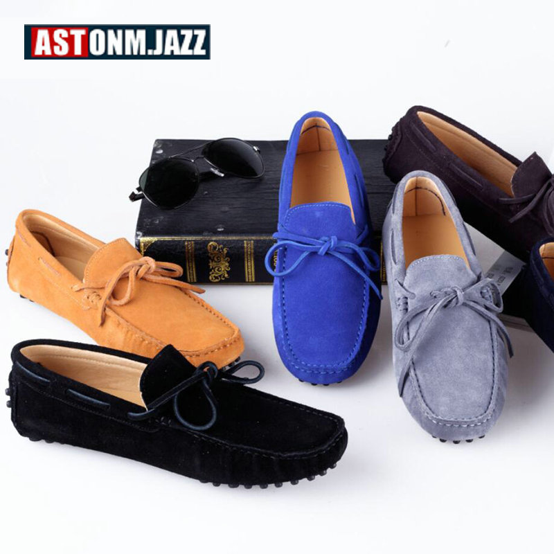 sur gray La Hommes navy Black brown khaki Grande wine Bateau Conduite Luxe Blue 11 Mens Casual royal Daim yellow Mocassins Slip Cuir Taille Chaussure En Chaussures De red 8rqw08B