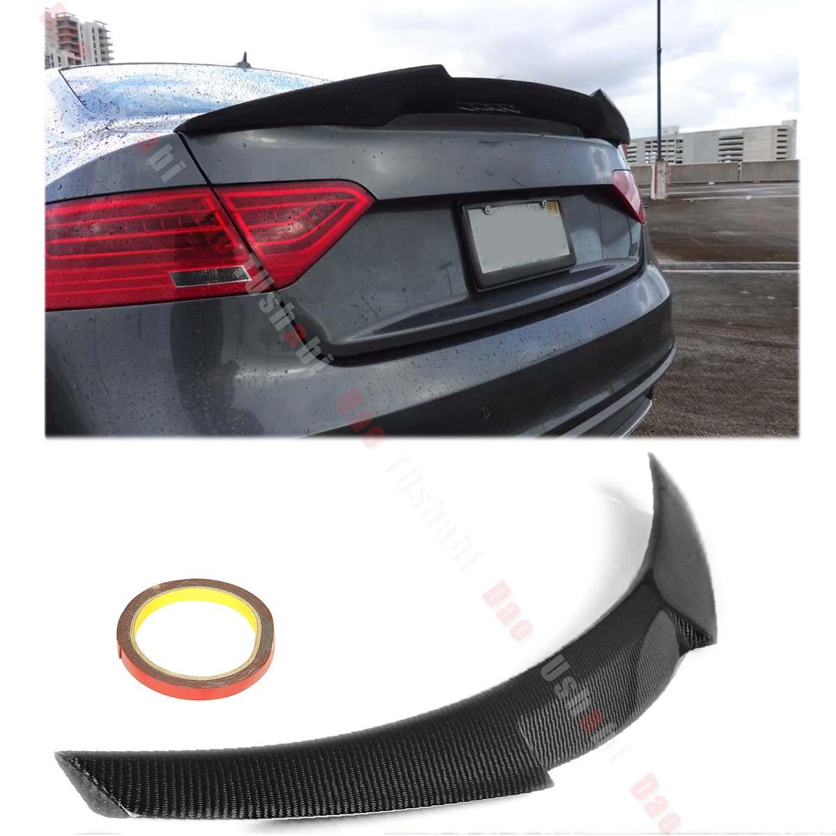 Real completa Material de fibra de carbono alerón trasero para techo de Spoiler de Audi A5 B8 B9 sedán de 4 puertas 2009, 2010, 2100, 2012, 2013, 2014, 2015, 2016