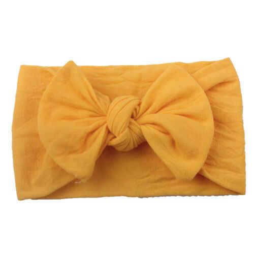 12 Цвета доступны ребенка повязка Бантом Милый Ребенок Девочка Малыш Детские однотонные аксессуары для волос Ободки для девочек эластичные Обёрточная бумага