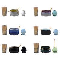 High Quality Tea Set Matcha Tea Sets Mixing Bowl Set Bamboo Ceramic Japanese Tea Ceremony Tool Combination Spoon Gift Kit