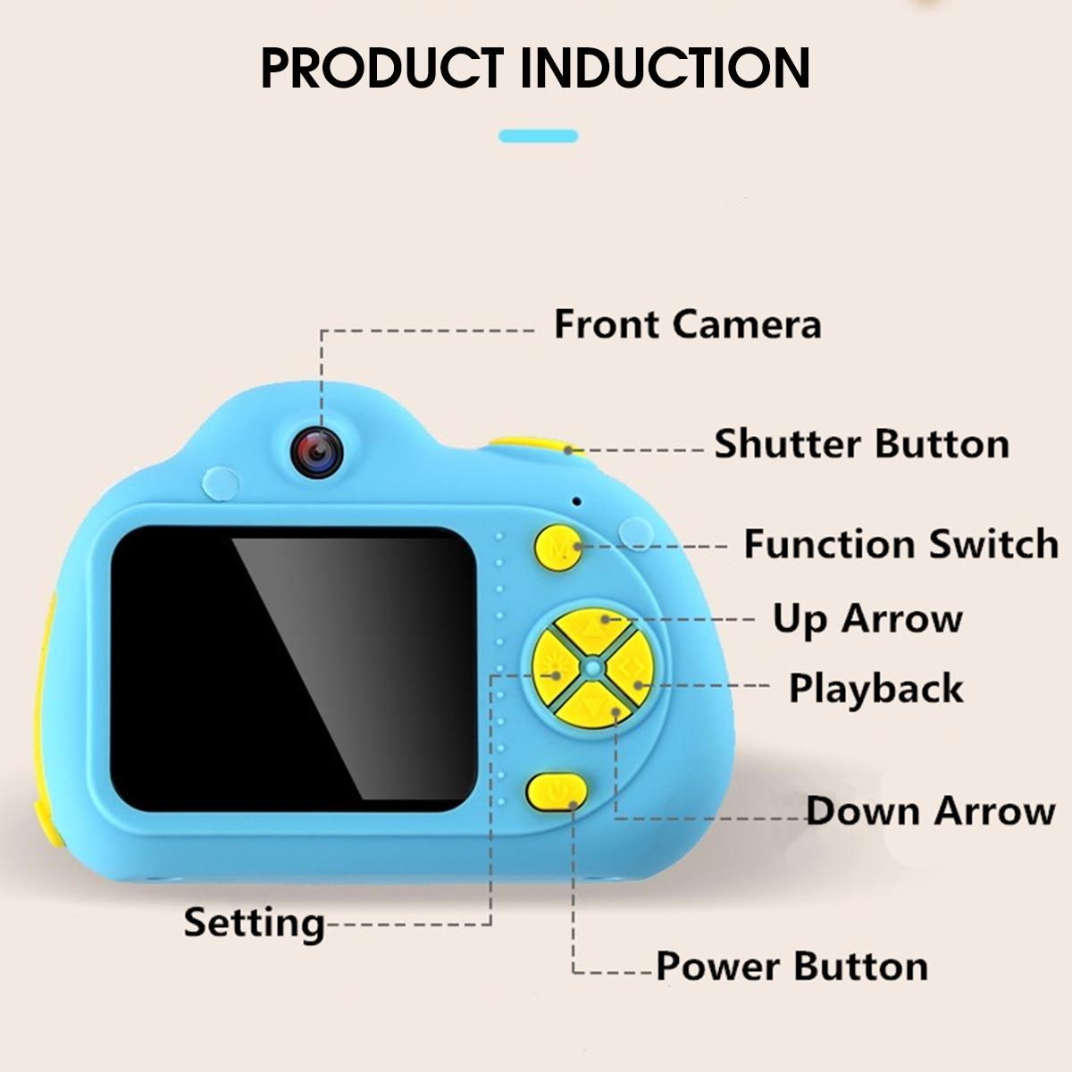 D6 2 ''HD numérique Micro enfants caméra Mini enfants caméra 800 W 120 ° grand Angle reconnaissance du visage Photo vidéo jouet caméra - 3