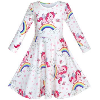 Unicorn Rainbow Long sleeve Dress
